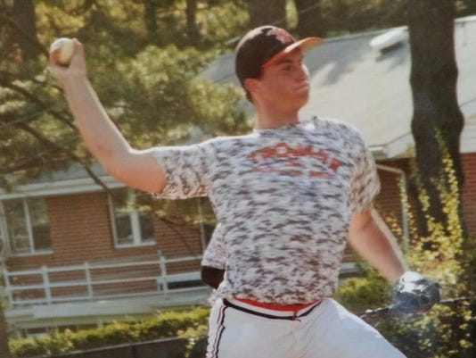 Brendon Delridge shows off his pitching form. (submitted photo)