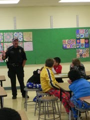 Officer Kirby of the Oshkosh Police Department spoke with students about their individual rights and the rights of others around them.