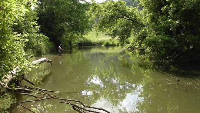 A favorite, deep trout fishing hole in Crawford County.