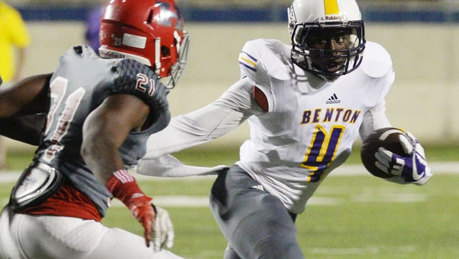 Benton's Doyle Adams Jr. (4) will be one of the leaders for the Tigers, who are the preseason favorites to win District 1-4A.