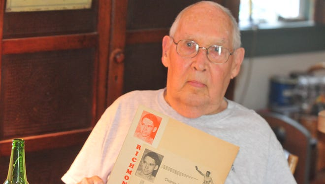 Charlie Hyde, a member of Richmond's 1943 boys basketball team, at his home Wednesday, June 28, 2017.