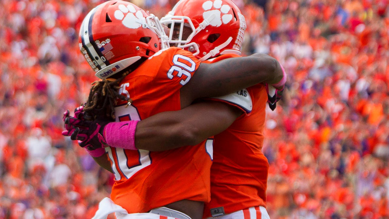 Check out the highlights from Week 7 of college football and where each team is ranked in the Amway Coaches Poll.