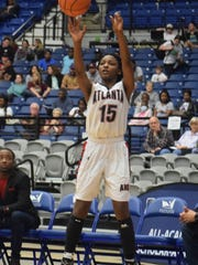 Atlanta's Ro'shonna Powell shoots a 3-pointer against Summerfield during the 2018 Class C semifinals at the Rapides Parish Coliseum on Feb. 26, 2018. Powell earned MVP honors for District 4-C for the 2019-20 season.