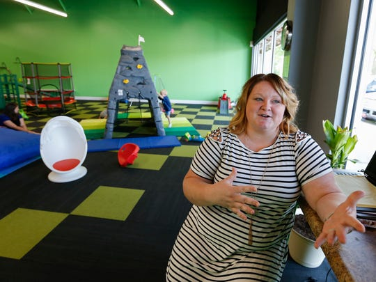 Ashley Campbell opened the Jungle Gym, an indoor 'sensory play' environment for kids at 3322 S. Campbell Avenue.
