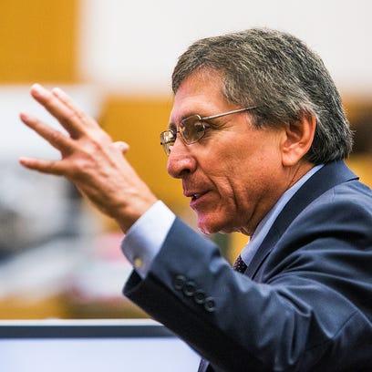 Prosecutor Juan Martinez makes his opening statement