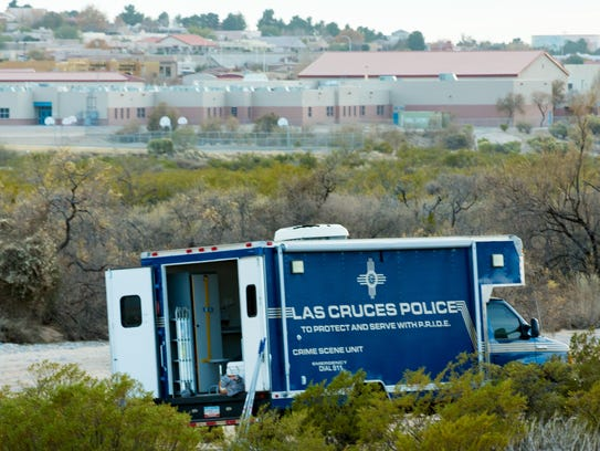 Las Cruces Police tape off more than 50 yards of desert