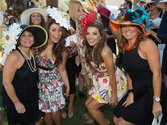 These women show off their fashionable hats and spring