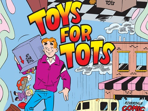 Archie Comics celebrates its new partnership with Toys for Tots with a six-page story in the new issue of