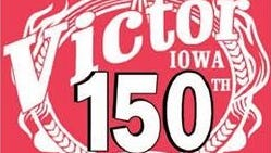 Victor 150th town celebration logo, commemorating the activities this weekend.