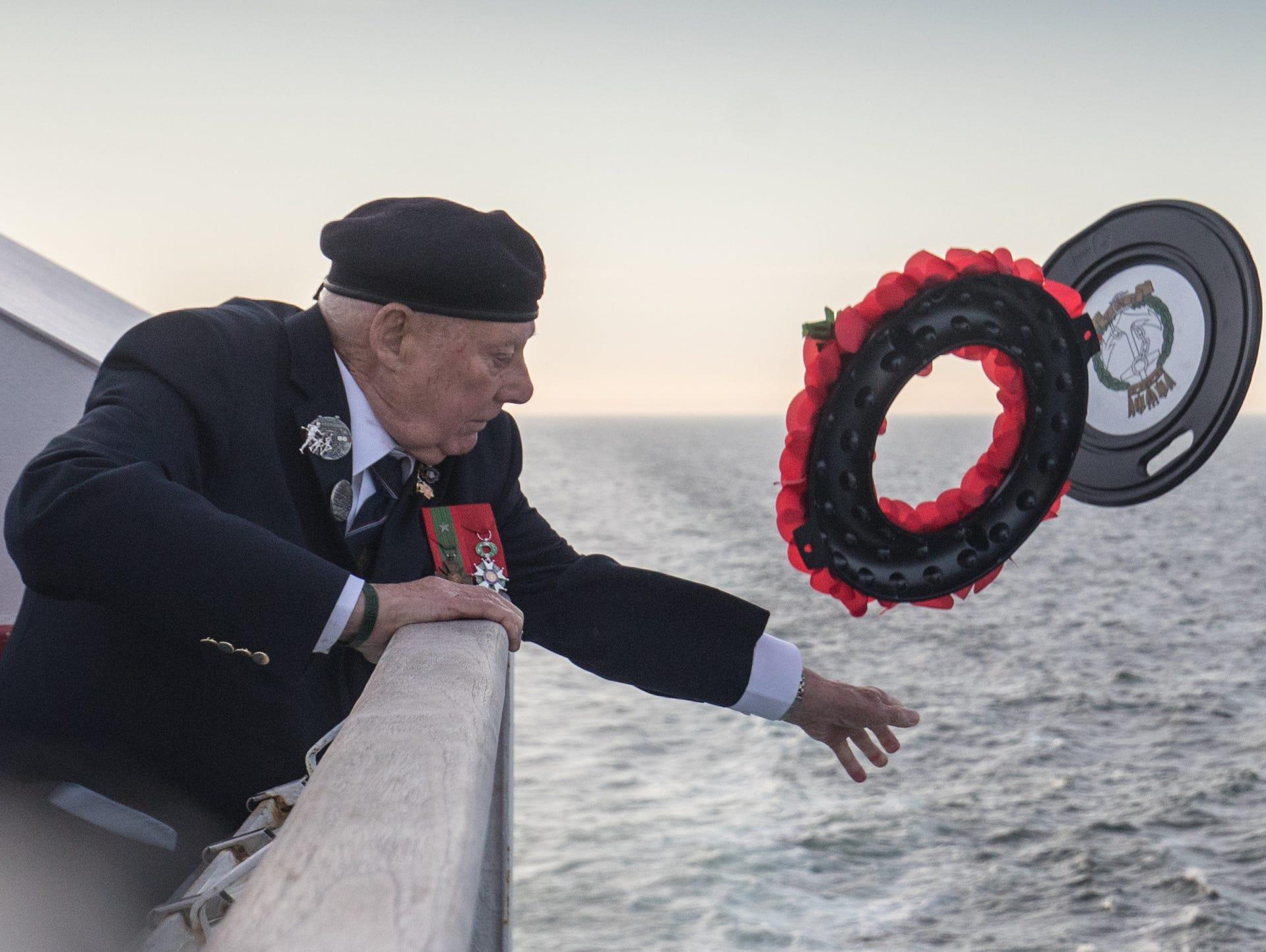 John Quinn who was a Royal Marine coxswain on a landing
