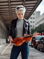 Hanna Landrum, a violinist with the RPO.