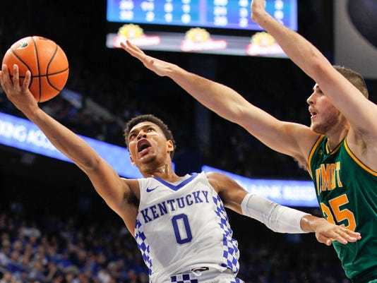 NCAA Basketball: Vermont at Kentucky