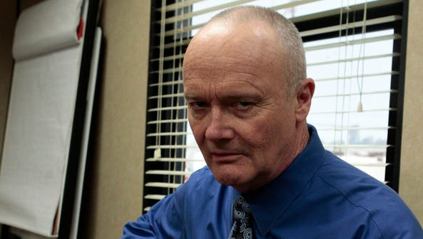 Creed Bratton on the set of NBC's 'The Office'