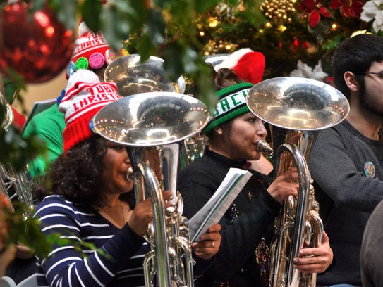 The Annual Tuba Christmas Concert will be at noon,