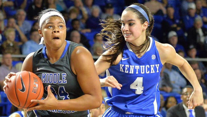 MTSU's Olivia Jones was selected as Conference USA's preseason player of the year. She's now suspended indefinitely.