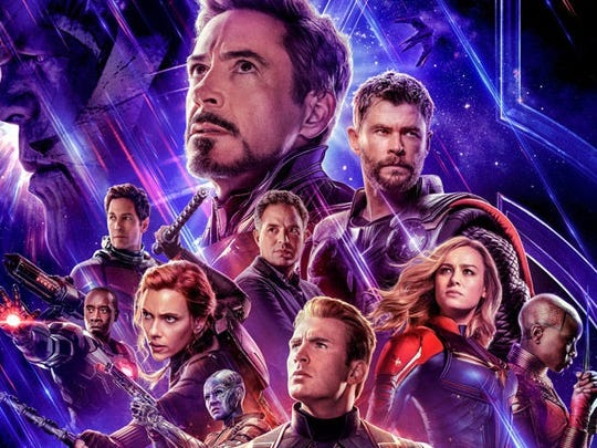 Avengers: Endgame poster showing various characters from the movie