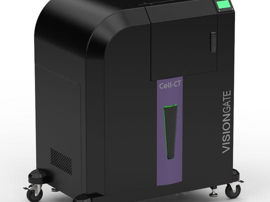 A machine called Cell CT is used to analyze LuCED, a non-invasive test for lung cancer.