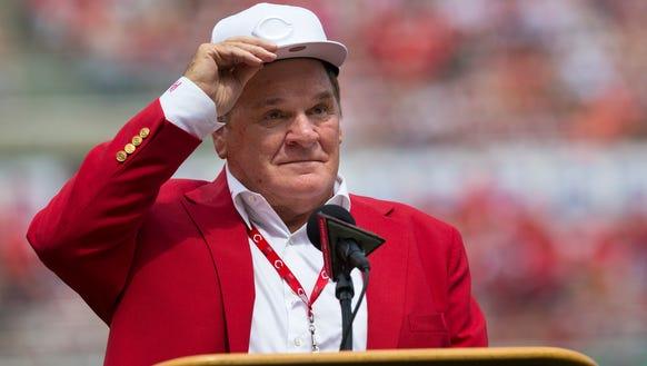 An emotional Cincinnati Reds hall of famer Pete Rose