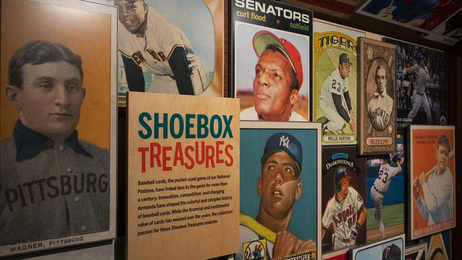 National Baseball Hall of Fame and Museum's Shoebox Treasures exhibit, dedicated to the history of baseball cards, opened in 2019.