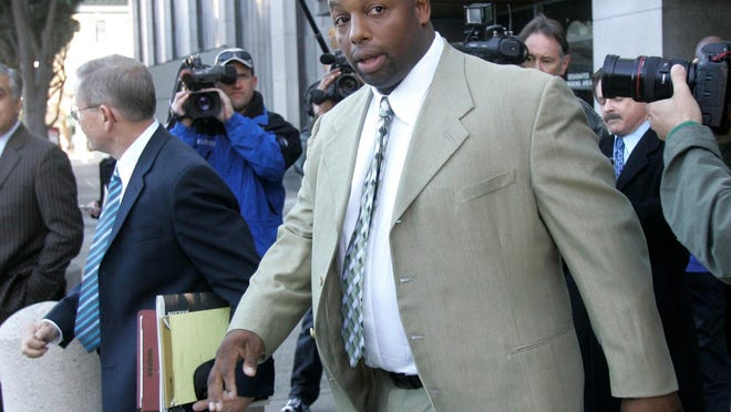 Dana Stubblefield, who was a standout defensive lineman at Kansas from 1990-92, was convicted Monday of the rape of a developmentally disabled woman.