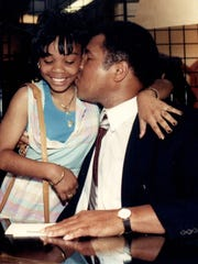 Muhammad Ali in 1989. He did ample charity after retiring.