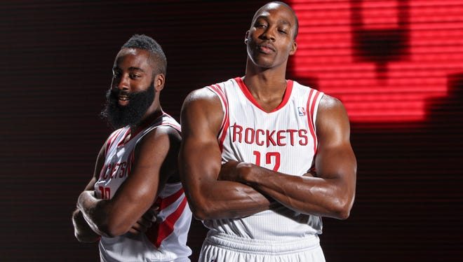 Rockets stars James Harden and Dwight Howard make for a formidable duo