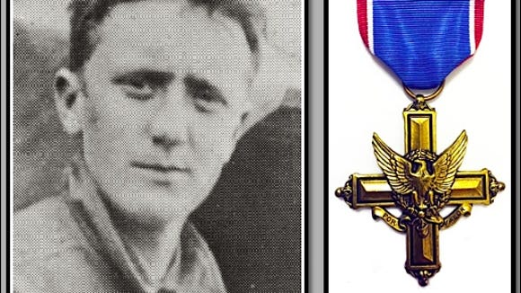 Private William H. Myers of York, PA: WWI Distinguished Service Cross recipient (Illustration by S. H. Smith, with photo from page 29 of York County and the World War by Clifford Hall & John Lehn)