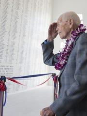 John Anderson visits the memorial at Pearl Harbor on