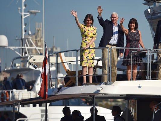 Mike Pence, Karen Pence, Gladys Berejiklian