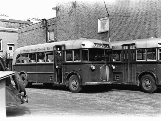 Valley Public Service Co. was one of the first bus lines in Lancaster, circa 1940. Its ticket office was at the rear of the Hotel Lancaster.