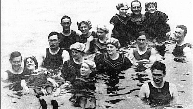 Residents kept cool in the early 20th century with a cool swim in an irrigation canal or the Salt River.