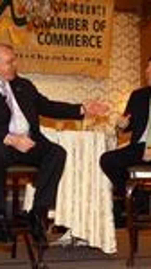 Senators Stephen Sweeney and Tom Kean Jr. at a 2011 event (file photo).