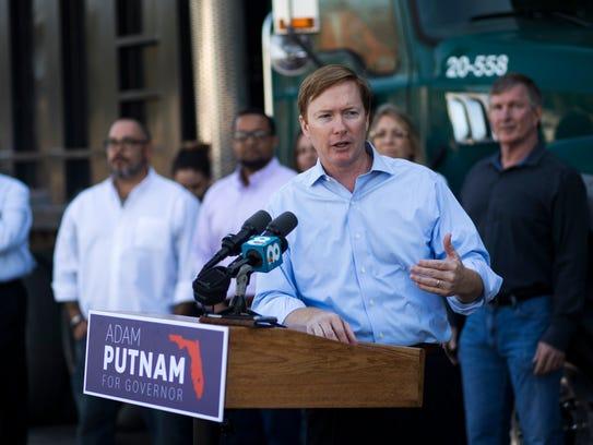 In this April 6, 2018, file photo, Adam Putnam, Republican