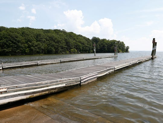 The boat ramp at George's Island Park in Montrose.