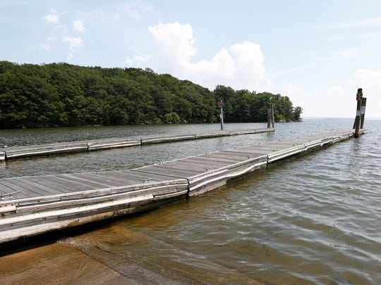 The boat ramp at George's Island Park in Montrose. Thursday, August 10, 2017.