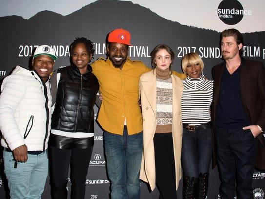Team 'Mudbound' at Sundance: Jason Mitchell (from left),