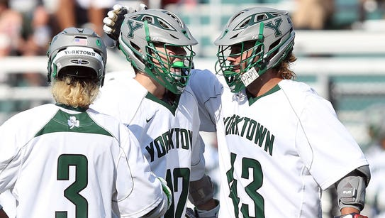 Yorktown defeated Burnt Hills 16-9 in the Class B regional