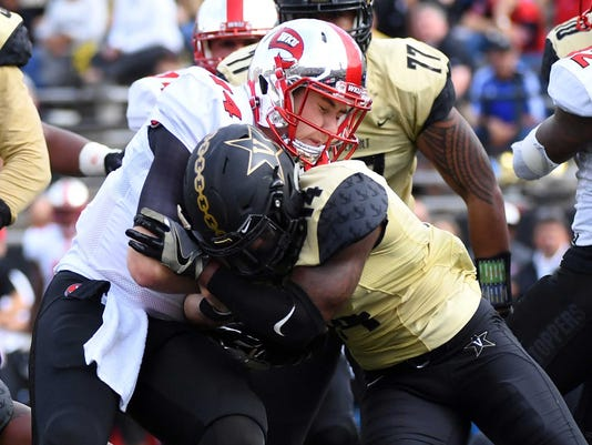 NCAA Football: Western Kentucky at Vanderbilt