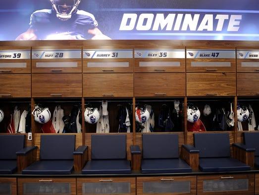 Titans Locker Room Nashville