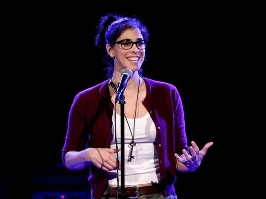 Actress/comedian Sarah Silverman performs at the Teragram Ballroom for The Post Pop Depression Tour on March 9, 2016 in Los Angeles, California.