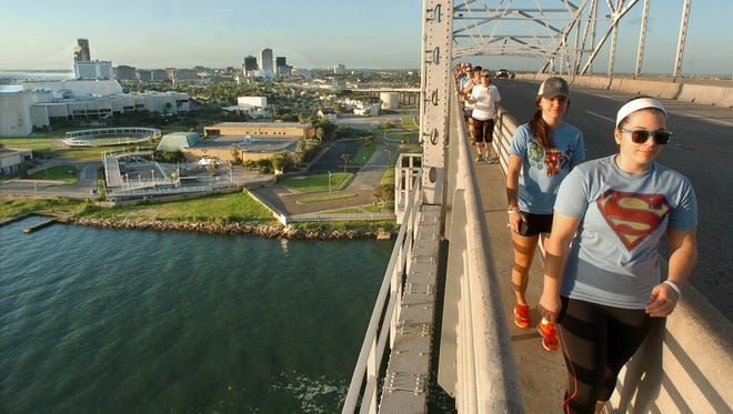 The Marina Arts District hosts the monthly BridgeWalk across Harbor Bridge at 8:30 a.m. Sunday starting at Heritage Park.