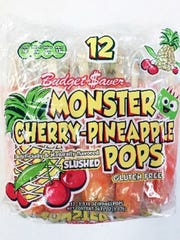 Budget $aver Cherry Pineapple Monster Pops.