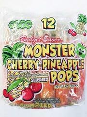 Budget $aver Cherry Pineapple Monster Pops.