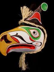 Thunderbird animal mask by Jonathon Becker