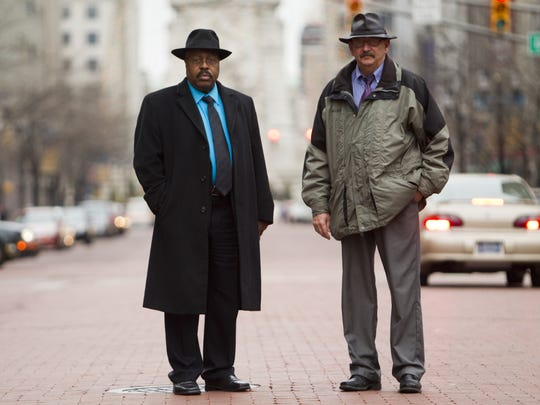"""Indianapolis homicide detectives Jesse Beavers (left) and Tom Tudor were featured on """"The Shift"""" TV series."""