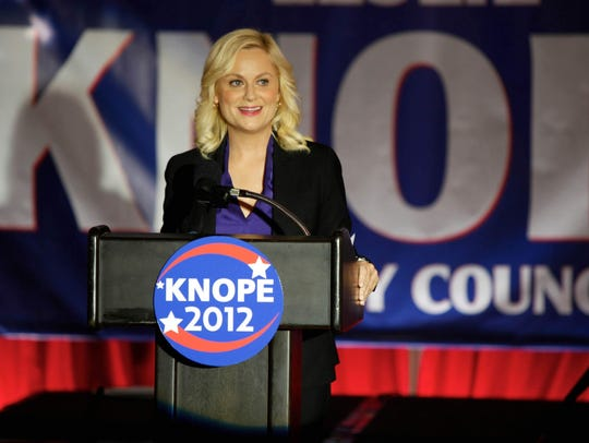 "Amy Poehler portrayed Leslie Knope in ""Parks & Recreation."""