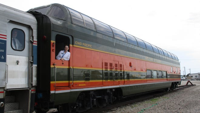 "Passengers with the American Passenger Rail Heritage Foundation will ride in ""Prairie View,"" a 1955 full-length dome car during the rail excursion."