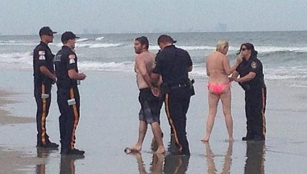 Police at the Jersey shore have accused a Philadelphia couple of having sex in the surf.