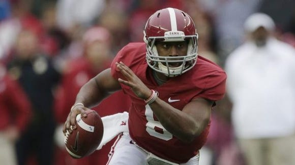 Blake Sims has a slight edge in the race to start at quarterback for Alabama this season, Nick Saban said after Saturday's scrimmage.