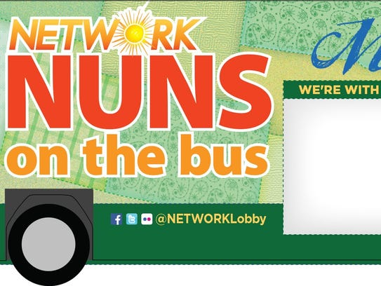 The Nuns on the bus decal plan for 2016's bus.